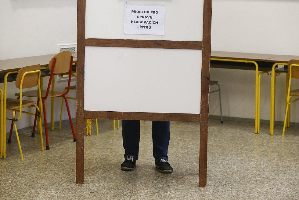 Volební okrsek číslo 6 v Berouně.