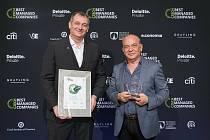 Generální ředitel holding Milan Rufer s majitelem Sotiriosem Zavalianisem.