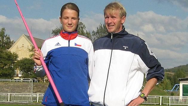 Irena šedivá s trenérem Prouzou