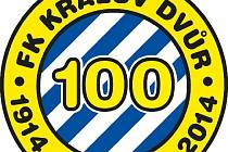 Logo FK Králův Dvůr ke stol letům