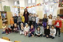 Prvňáčci ze Základní školy v Hudlicích ve školním roce 2019/2020.
