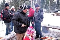 Novoroční výšlap na rozhlednu na Studeném vrchu