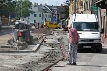 Oprava Plzeňské ulice.