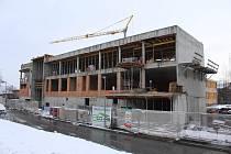Výstavba nového pavilonu pro 2. základní školu v Preislerově ulici v Berouně.