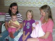 JULIE Mádlová z Oseka se rozhodla přijít na svět 28. srpna 2017. Z nového člena rodiny, holčičky Julinky, se radují maminka Klára Mádlová, tatínek Miloslav Valenta, sestřičky Klárka (8 r. 10 m.) a Kamilka (1 r. 10 m.).