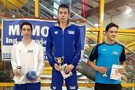 Berounští plavci - 1. místo Tomáš Míka, 2. místo Lukáš Uxa.