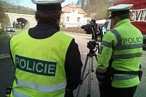 Policejní akce Speed Marathon na Berounsku.