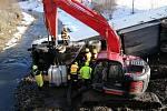 Dopravní nehoda nákladního automobilu na plzeňské dálnici.