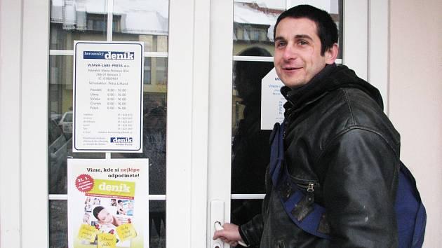 Amnestrovaný vězeň Pavel Nový hledal pomocnou ruku v Berounském deníku
