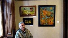 Ve středu zahájil  v městské galerii svoji výstavu Cestami snů berounský výtvarník Jiří Kreissl.