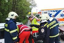 Nehoda u Mořiny si važádala pět raněných