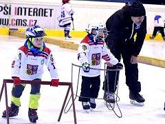 První hokejové krůčky na berounském zimáku.