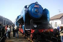 ALBATROS.  Rychlíková lokomotiva Albatros (498.022) z roku 1947