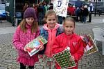 Na berounském náměstí si děti užily akci Člověk a krajina