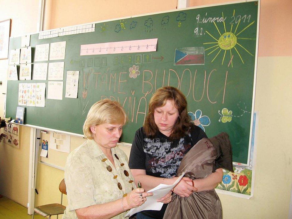 Zápis prvňáčků v Základní škole Žebrák