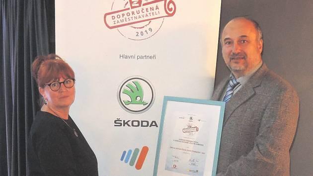 Hořovická střední škola obhájila vítězství v anketě Klubu zaměstnavatelů.
