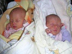 Dvojnásobnou radost mají rodiče Veronika Vaňková a Zdeněk Šlajs z Klatov. Dne 5. listopadu se jim narodila krásná dvojčátka, Nelinka a Nikolka. Nelinka se narodila jako první s váhou 2,53 kg a mírou 49 cm. Nikolka vážila 2,46 kg a měřila 48 cm.