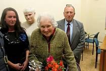 Margita Rytířová ze Zadní Třebaně slaví jednadevadesáté narozeniny