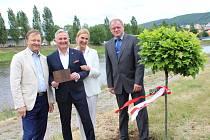 Představitelé Berouna vysadili v parku u řeky Berounky nový strom.  Na počest patnáctého výročí uzavření partnerské smlouvy o spolupráci mezi Berounem a polským Brzegem, zde nyní roste dub bahenní.