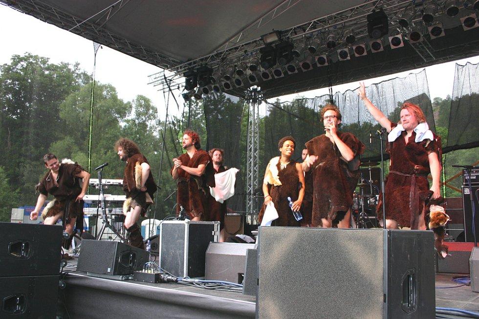 Skupina Monkey Business si koncert opravdu užívala