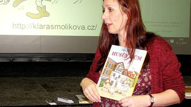 Spisovatelka Klára Smolíková navštívila Hořovice