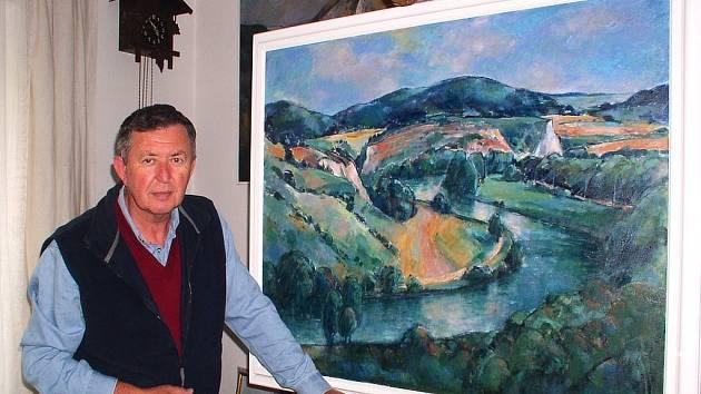 Berounský malíř Karel Souček přišel kvůli povodni v roce 2002 o řadu děl. Tvořit však kvůli tomu nepřestal.