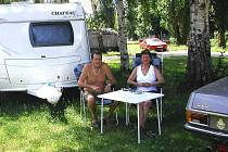 Do autokempu Na Hrázi v Berouně jezdí i lidé z Německa či Holandska.