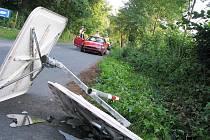 Na osovské křižovatce havaroval řidič fordu