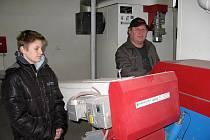 Kotelna na biomasu Měňany