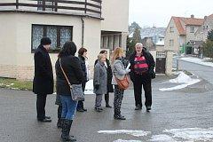 Soudní jednání na místě nehody v Chyňavě