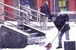 Beroun zasypal sníh