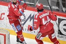 Martin Růžička se raduje ze vstřeleného gólu.