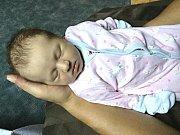 ŠŤASTNÝM rodičům, Gabriele Dočkalové a Arnoštovi Götzovi se 3. července 2017 narodila v hořovické porodnici holčička a dostala jméno Rozárka. Rozárce sestřičky na porodním sále navážily 3,70 kg a naměřily 49 cm. Foto: Rodina