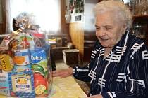 Marie Sochorová z Mořiny oslavila 101. narozeniny.