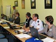 Zasedání protipovodňové komise.