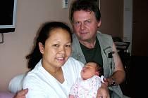 Holčička Nicole Ann Chadima z Řevnic se narodila 6. července ze smíšeného manželství. Maminka Verna je z Filipín a tatínek Václav z Čech. Nicole Ann přišla na svět s krásnou váhou 4,08 kg a mírou 52 cm.