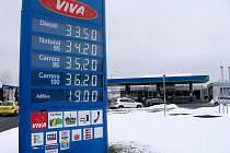 Ceny pohonných hmot - 5. ledna 2011 - OMW Beroun – D5 Jih