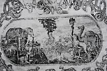 Fresky na zámku v Králově Dvoře