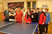 Vánoční stolní tenis v Žebráku