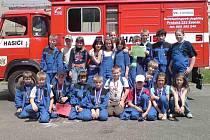 Mladí hasiči ze Žebráku pravidelně soutěží v požárním sportu
