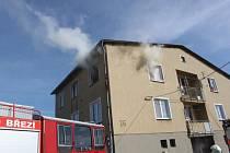Požár bytu v Předslavicích na Strakonicku.