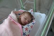 Adriana Šlehoferová z Blatné. Adrianka se narodila 4. 2. 2019 ve 4.46 hodin a při narození vážila 3450 g. Na miminko se všichni doma už moc těšili.