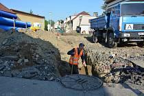 Stavební práce ve Fügnerově ulici ve Vodňanech budou dokončeny 31. července.