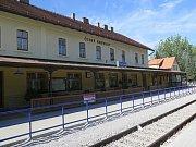 Vlakové nádraží v Českém Krumlově.