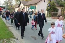 Místostarosta Jindřich Zdráhal (vpravo) se těší na výstavbu nové mateřské školy.