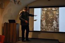 Přednáška Jana Royta Ikonografie Kristova narození a dětství se uskutečnila v úterý 3. prosince ve společenském sále Šmidingerovy knihovny ve Strakonicích.