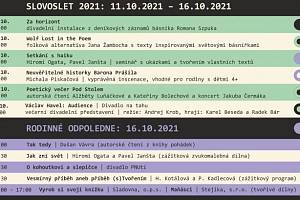Minifestival Slovoslet nabízí bohatý program.