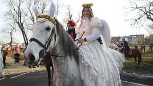 Čerti a andělé na koních ve Vodńanech