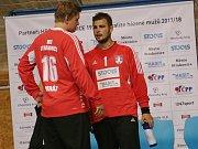 Jindřich Mráz (vlevo) nastoupil proti Zubří v první půli a tým podržel. Stejně tak jeho kolega Jakub Jareš po změně stran. K bodovému zisku ale nepomohli.