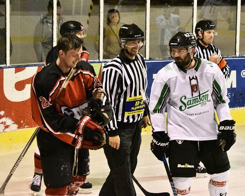 KL hokejistů: HC Strakonice - HC Samson ČB 2:10.